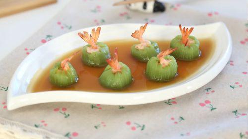 清爽鲜虾丝瓜盅的做法图解11