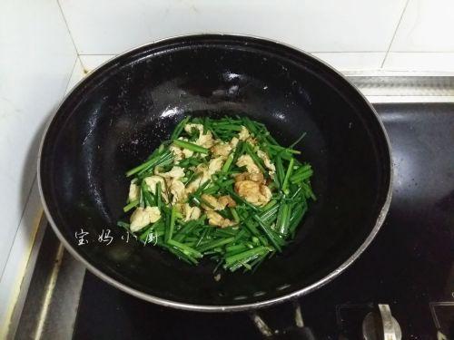 韭菜梗炒鸡蛋的做法图解8