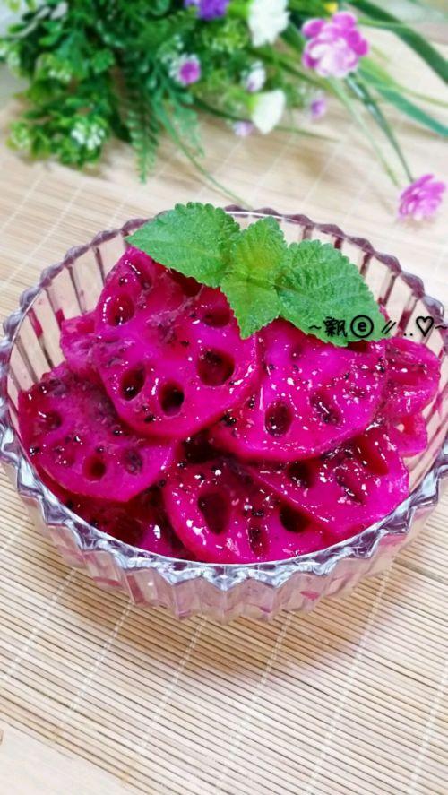 排毒养颜的小吃:胭脂藕片的做法图解10