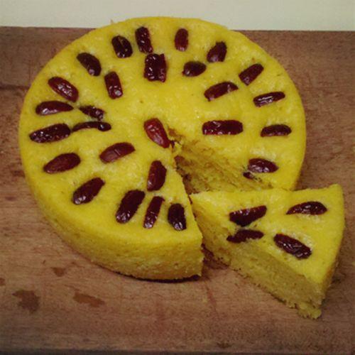 自制健康美味南瓜红枣发糕的做法图解8