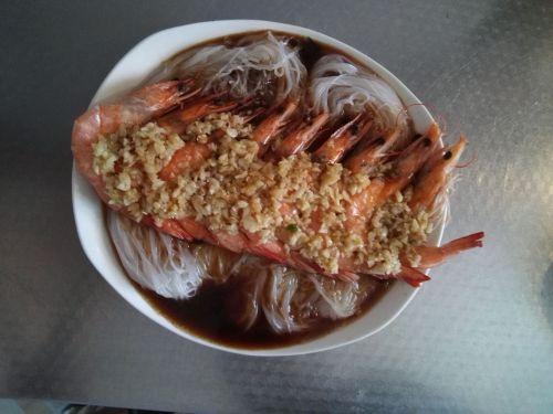 粉丝蒸虾的做法图解4