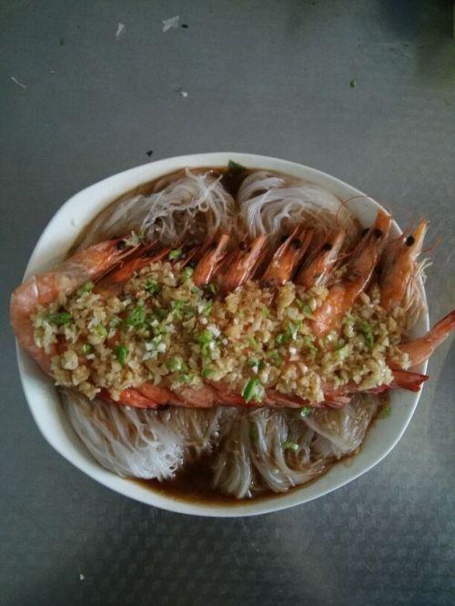 粉丝蒸虾的做法图解5