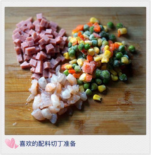 藜麦鲜虾蛋包饭的做法图解2