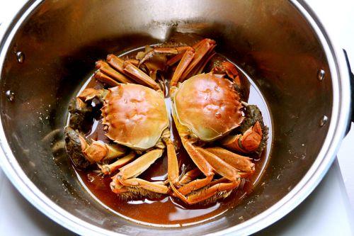 花雕姜汁红醉蟹的做法图解6