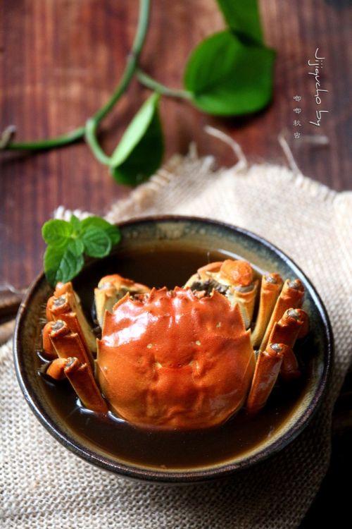 花雕姜汁红醉蟹的做法图解7