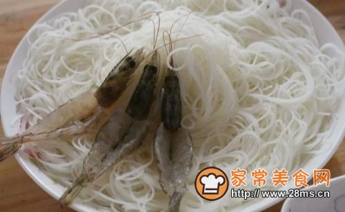 虾蒸粉(花开富贵)的做法图解2