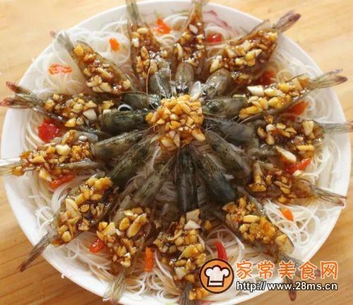 虾蒸粉(花开富贵)的做法图解6