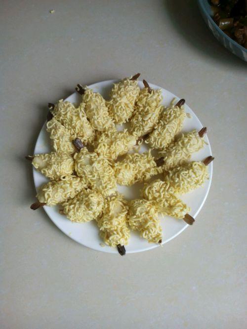 创意料理:黄金虾的做法图解8