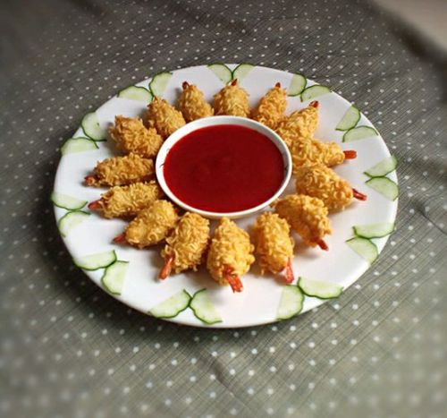 创意料理:黄金虾的做法图解11
