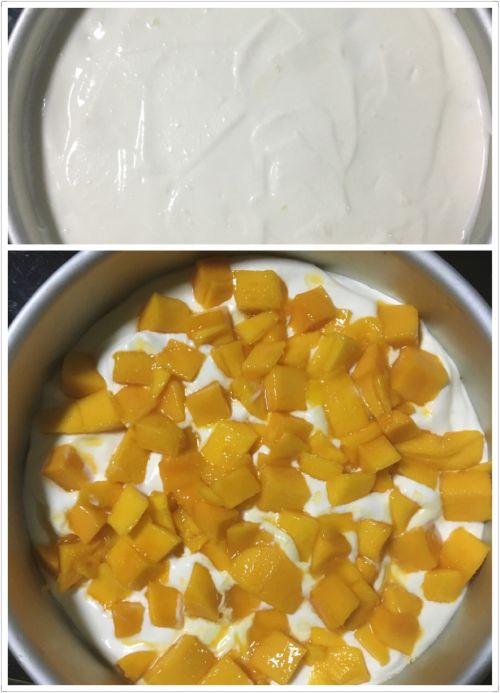 芒果酸奶慕斯的做法图解3