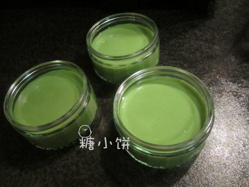 抹茶豆乳布丁的做法图解5