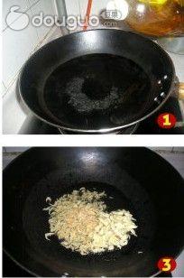 木耳炒油菜的做法图解2