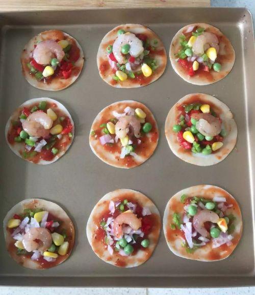 饺子皮版披萨的做法图解5