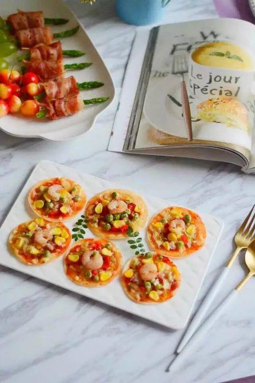 饺子皮版披萨的做法图解9