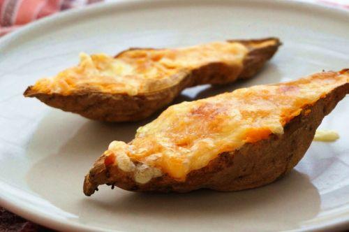 芝士焗番薯的做法图解6