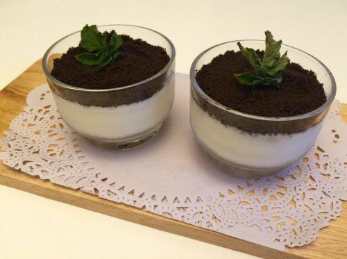 奥利奥酸奶盆栽甜品的做法图解6