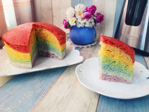 彩虹发糕的做法图解5