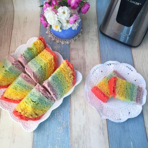 彩虹发糕的做法图解6