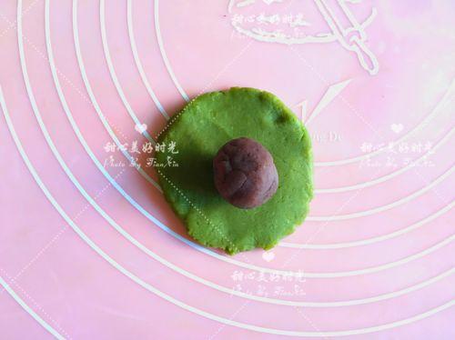 抹茶绿豆糕的做法图解6