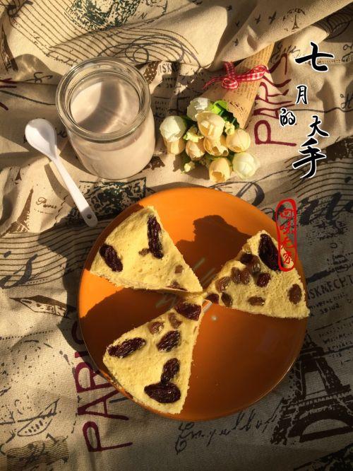 葡萄干蒸蛋糕的做法图解7