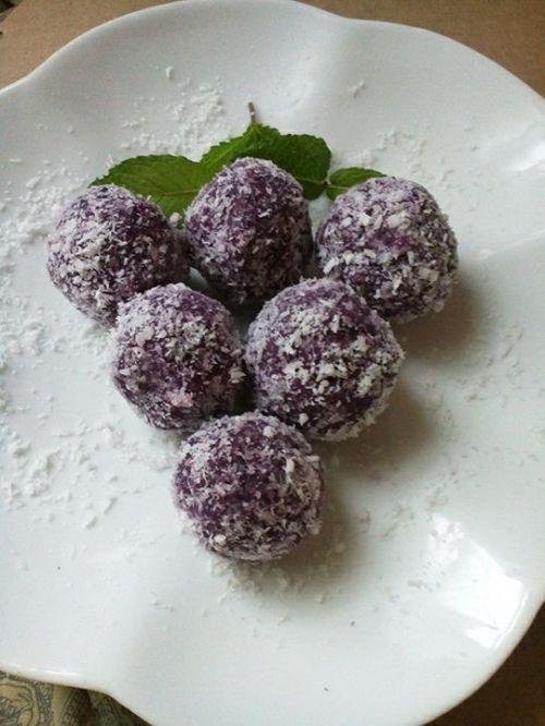 椰蓉紫薯球的做法图解9