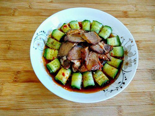 酱牛肉黄瓜卷的做法图解8