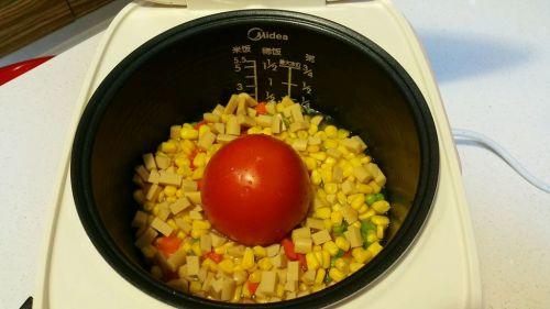 电饭煲版番茄饭的做法图解6