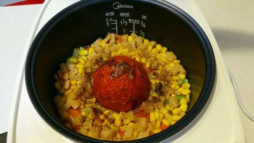 电饭煲版番茄饭的做法图解8