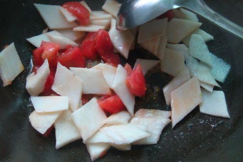 西红柿木耳炒山药的做法图解7