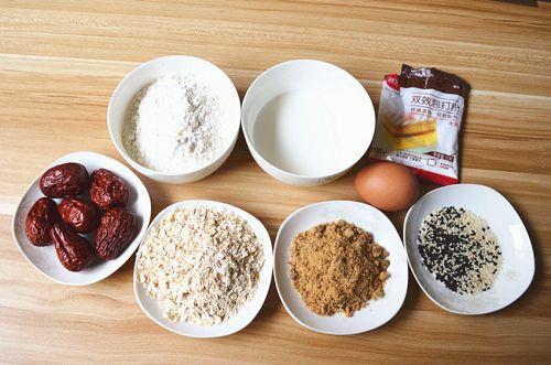 红枣燕麦糕的做法图解1