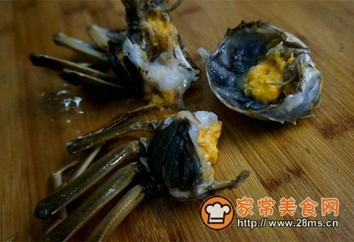香辣蟹炒年糕的做法图解7