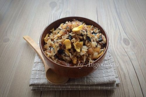 菜籽油梅干菜蛋炒饭