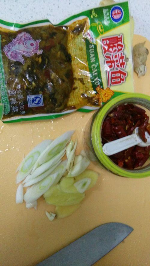 麻辣酸菜鱼的做法图解3