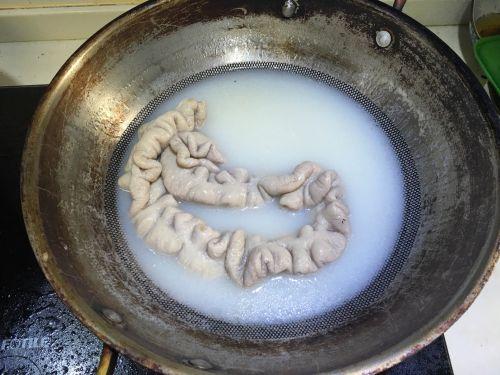 做法片炒白菜的大肠用糖粉替代砂糖图片