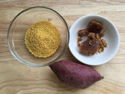 紫薯小米粥的做法图解1