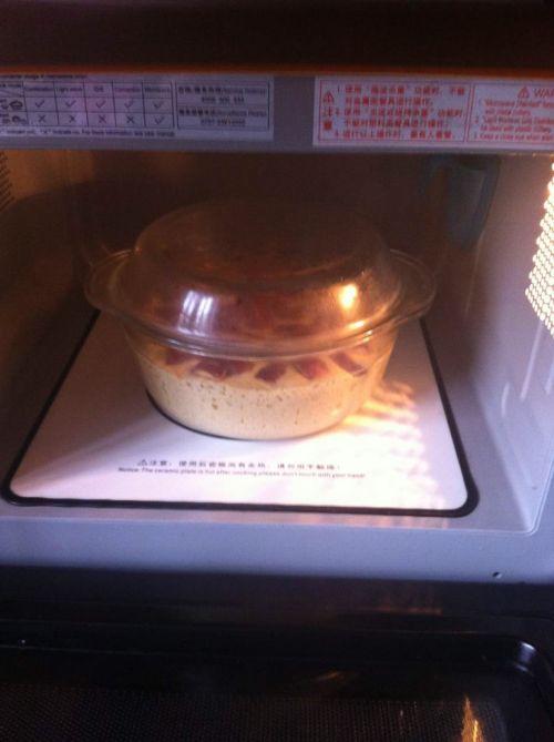 红枣玉米发糕(微波炉版)的做法图解9