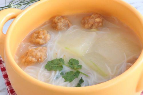 冬瓜丸子粉丝汤的做法图解7