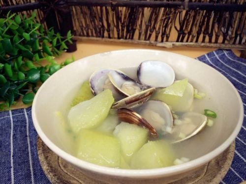 养生减肥的蛤蜊冬瓜汤的做法图解3