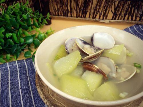 养生减肥的蛤蜊冬瓜汤的做法图解4
