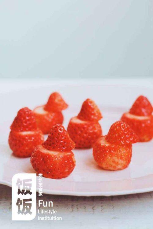 超简单草莓圣诞老人的做法图解4