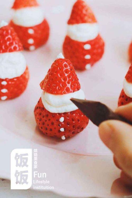 超简单草莓圣诞老人的做法图解8