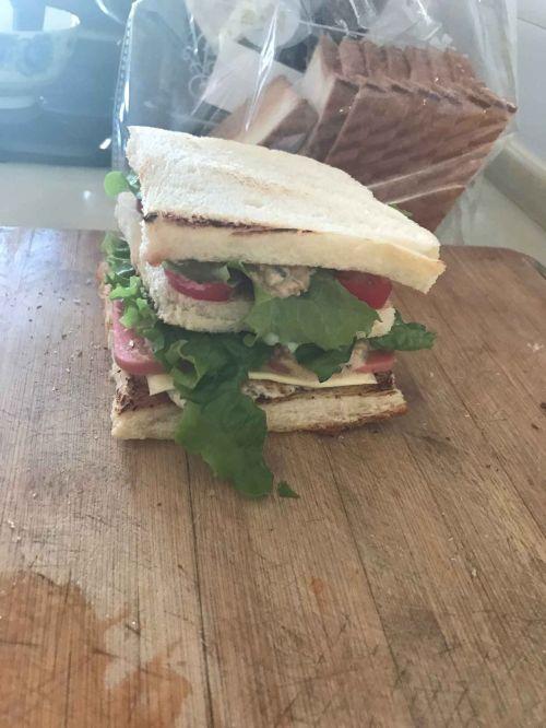 阳光早餐三明治的做法图解4