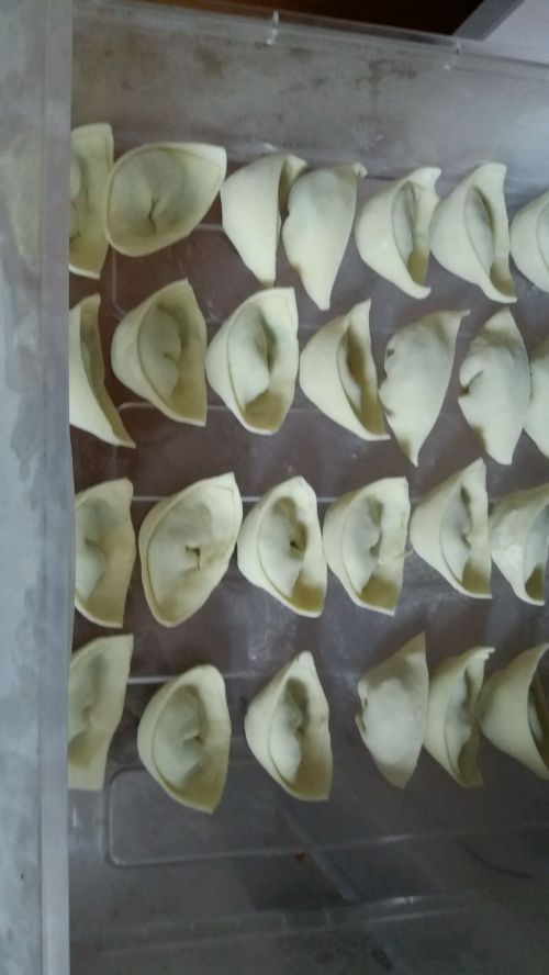香菇油菜鸡蛋饺子的做法图解9