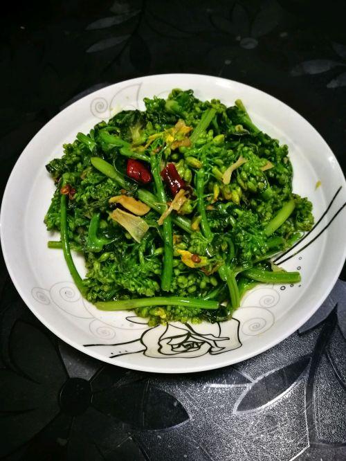 炒油菜花的做法图解5