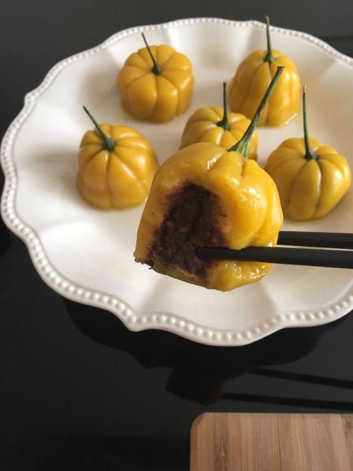 南瓜红豆饼的做法图解8