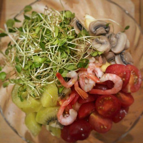 北极虾香椿芽水果沙拉的做法图解8