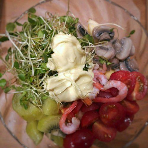 北极虾香椿芽水果沙拉的做法图解9