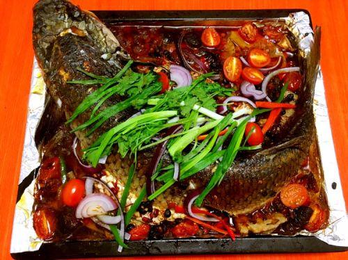 私房茄汁香辣烤鱼的做法图解9