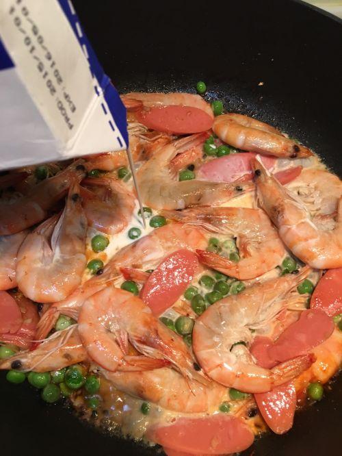 白酱鲜虾意面的做法图解6