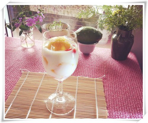 芒果酸奶的做法图解7